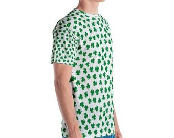 Outrageous Four Leaf Clover Irish Shamrock St Patricks Day Mens T Shirt