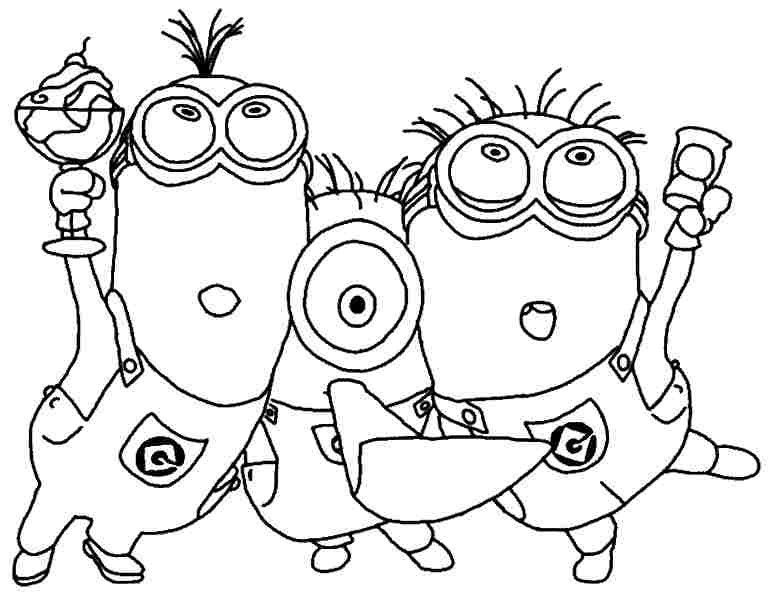 MINIONS Instant Download Coloring Pages Digital