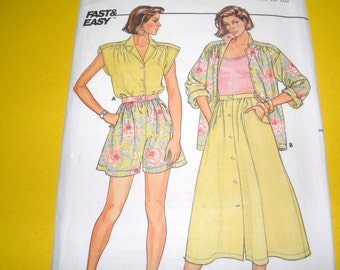 Butterick 3818 Size 14,16,18 Fast and Easy Summer Wardrobe UNCUT