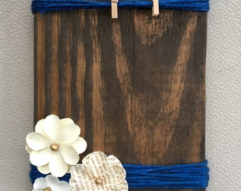 Rustic Photo Holder, Picture Frame, Reclaimed Wood