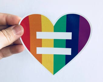 equality | LGBT rights | equal rights vinyl sticker