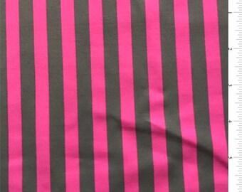 Magenta/Graphite Stripe Swimwear, Fabric By The Yard