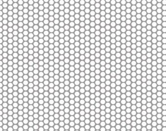 Riley Blake - Honeycomb Dot Gray - Fabric by the Yard