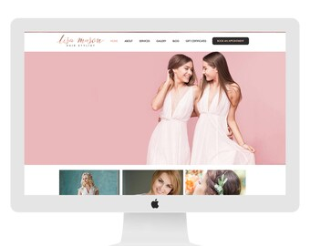 Wix Website Template, website design, hairstylist website design, hair salon website, hair stylist logo design, hair stylist WEBSITE 4870