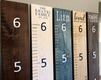 Mothers Day Gift Rustic Family Growth Chart Ruler, Personalized Kids Growth Chart, Wooden Ruler Chart, Growth Chart, Kids Ruler Height Chart