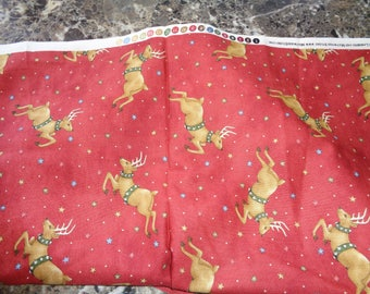 Reindeer Christmas fabric, byMaywood studio