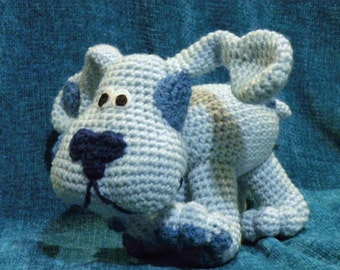 INSTANT DOWNLOAD - PDF - Blue from Blue's Clues - 8 inches amigurumi doll crohet pattern