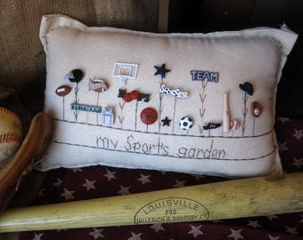 My Sport's Garden Pillow (Cottage Style)