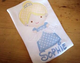 Cutie Princess Cinderella Inspired Personalized Applique Tshirt