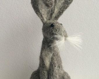 Grey hare needle felt kit ( starter kit )