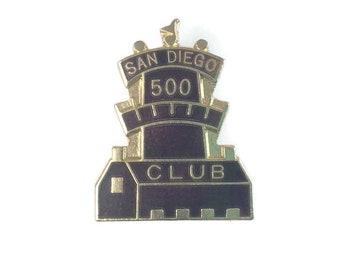 San Diego 500 Club Pin Vintage Bowling Club Pin