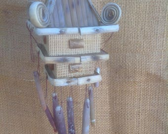 Rattan Wind Chime with Sea Shells