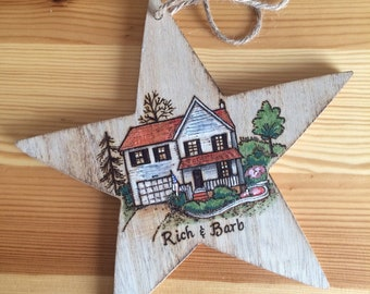 Housewarming Gift, First Home Ornament, Custom House Ornament, Closing Gift, New Home Ornament, Anniversary Gift, First Home Gift