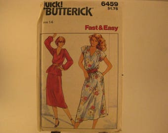 Butterick Quick Sewing Pattern 6459 sz 14 Misses' Top & Skirt [L32]