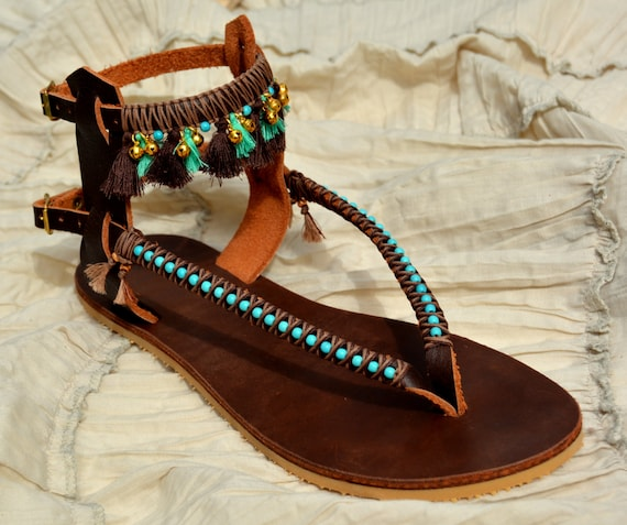 Tassels Bohemian Summer Leather Sandals Sandals Pom Pom Sandals Sandals Gladiator Sandals Sandals Sandals Boho Sandals xqawYEvw