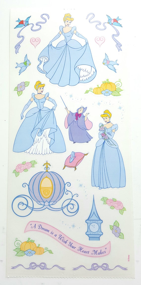 Disney Cinderella Scrapbook Vellum Stickers // Cinderella