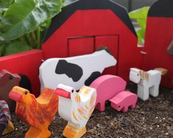 Wooden Toy Farm Set