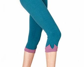 ORGANIC Cotton Capris, Crop Leggings, Yoga Capris, Capri Yoga Leggings, Womens Capris, Yoga Leggings, Capri Pants, Yoga Clothes