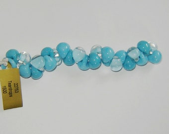 5, DELPHINE, (#22753)(ub71), Mixed Series, Unicorn Beads, Teardrop Beads, Boro Glass Beads, Lampwork, Handmade Beads