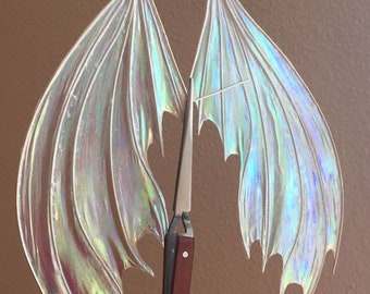 Frosty, Iridescent Dragon Wings for Dolls *Made to Order*