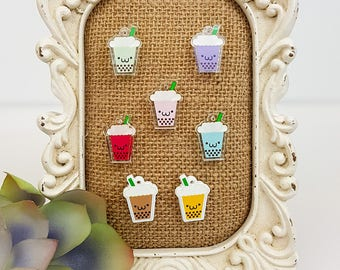 Bubble Tea Acrylic Charm - Kawaii cute food charm for phone, bag, jewelry