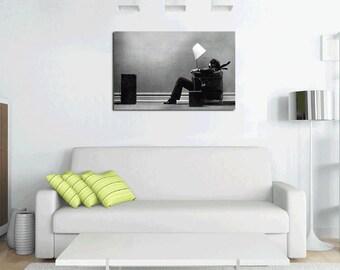 "Vintage Music Audio Ad ""Blown Away"" 36 x 24 Hi Res Canvas Art Print Home Decor Home Decor Canvas Print Poster Wall Art"