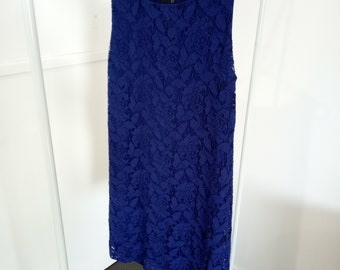 Asos Navy Lace Shift Dress Size 10