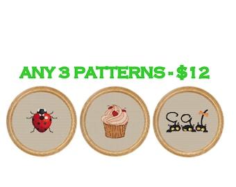Any 3 patterns - 12 dollars