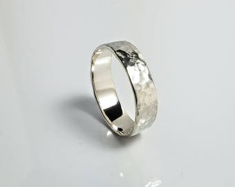 Hammered Rustic Silver Wedding Band Affordable Wedding Rings Rustic Wedding rings handmade wedding rings Boho Wedding Ring Wedding Band