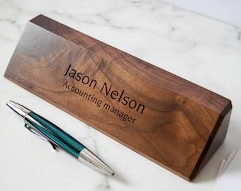 Reward Wooden Pen Holder Wood Desk Organizer Magowood ...