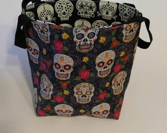Sugar Skull bucket bag