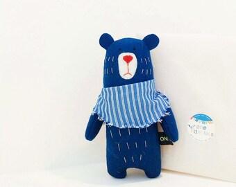 Little Blue Bear In A Scarf
