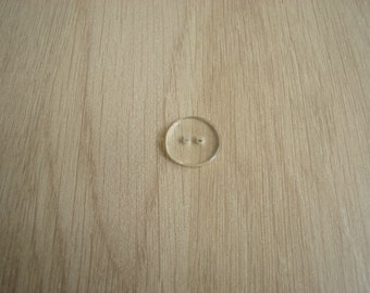 smooth domed clear plastic buttons