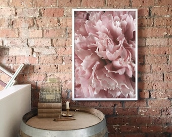 Pink Peony A1 Art Print, Pale Pink Floral Poster, Blush Pink, Large Flower Print, Extra Large Wall Art, Wall Decor, Giftability, Mothers Day