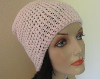 Pink Slouchy Hat, Women's Beanie, Snow Hat, Ice Skating, Skiing, Hockey Mom