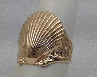 One of a kind shell ring.