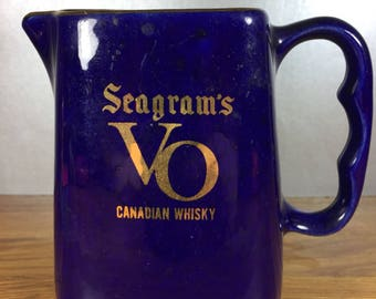 Seagram's VO Canadian Whiskey Pitcher
