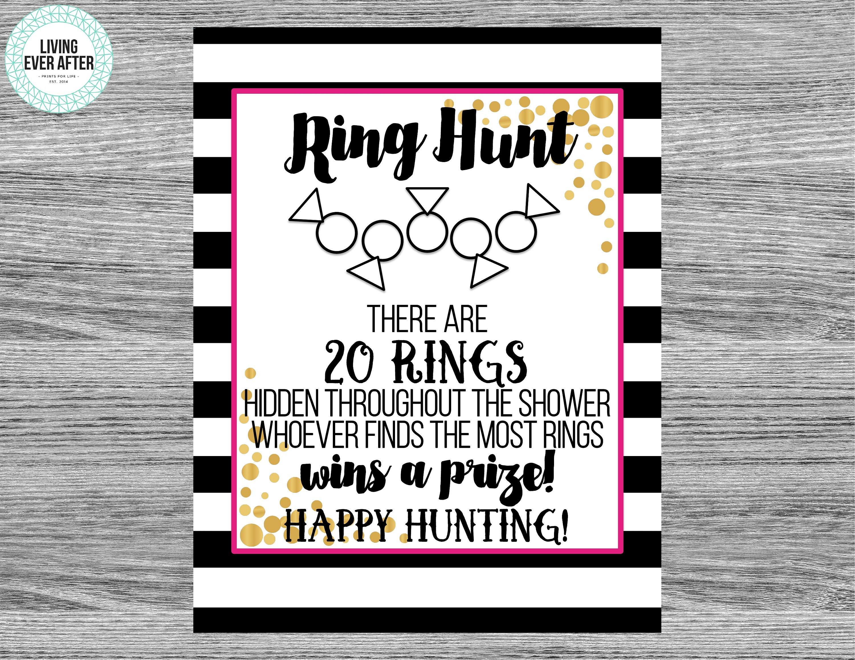 Ring Hunt Bridal Shower Game Physical Print Kate Spade