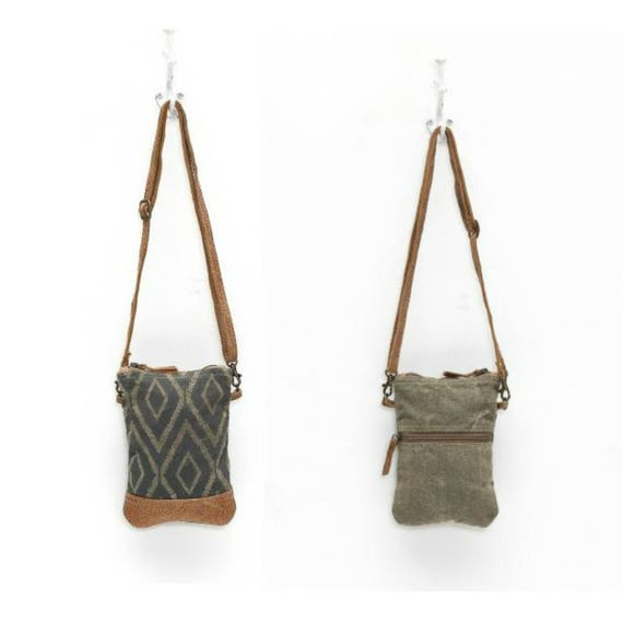 Chevron Print Crossbody Bag