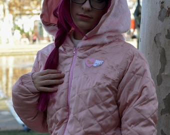 Candy Cotton Pink furry anorak