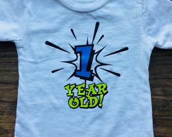 1 year old first birthday shirt