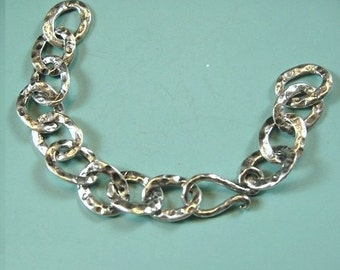 Sterling Silver Hammered Chain Extender with Hook and Eye Clasp, 3 Inches Oxidized, WHOLESALE CHAIN