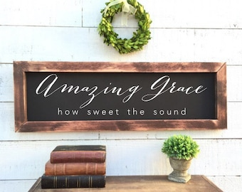 Amazing grace how sweet the sound, vintage Home Decor