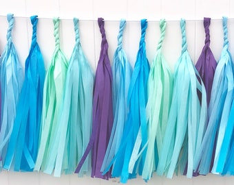 Mermaid tassel garland // party decoration// backdrop//birthday party