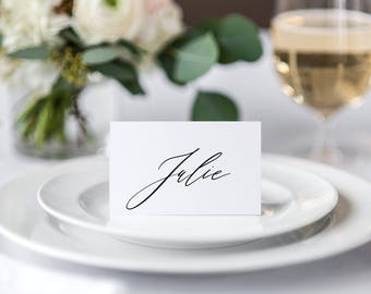 Calligraphy Place cards Style 1, Wedding Place Card, Event Place Cards, Printable