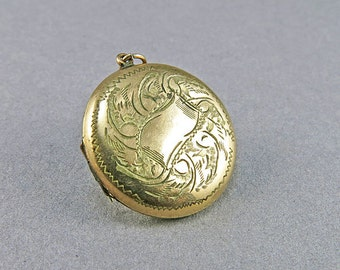 Antique Gold Filled Locket Pendant Picture Locket Edwardian Jewelry Antique Collectibles