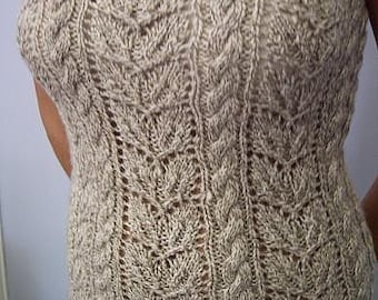Classic Cable Tank Tube - Knit Pattern PDF