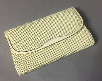 Vintage purse / vintage handbag / vintage bag / vintage clutch/  cream ivory clutch / clutch
