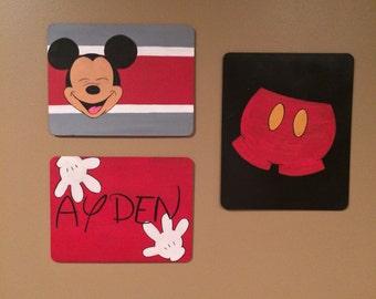 Mickey Mouse set of 3 vintage Chalkboards