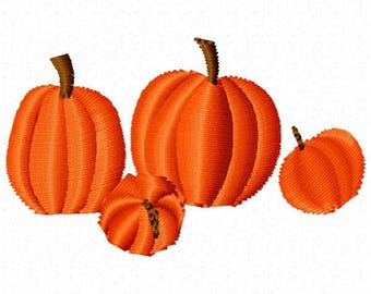 Pumpkins Machine Embroidery Design - Instant Download